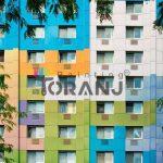 شماتیکی از کاربرد رنگ نمای ساختمان ویلایی